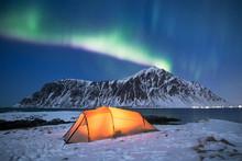 Illuminated Tent Under A Beaut...