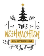 Frohe Weihnachten Kalligraphie...