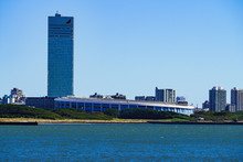 Landscape Of Makuhari City In The Background Of Blue Sky In Chiba Japan
