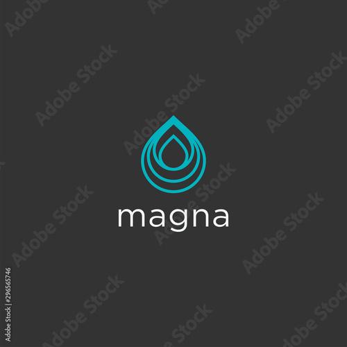 Abstract water drop logo design. Pure icon illustration vector Tapéta, Fotótapéta
