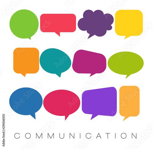 Fotografiet speech bubbles, communication concept, vector illustration