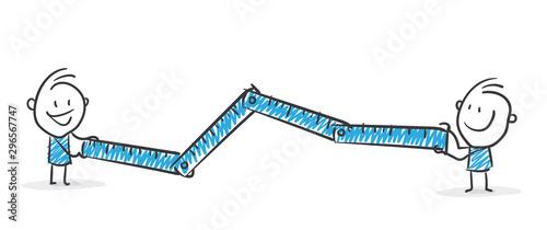 Stickman Blue: Ruler, Lenght, Width. (Nr. 152) Tablou Canvas