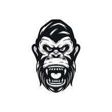 Vector Illustration Of Gorilla...