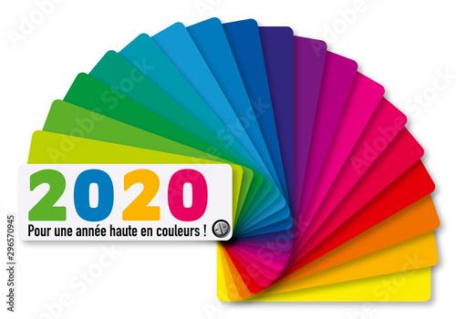 Carte de voeux 2020 aux couleurs vives présentant le concept du choix et de la diversité avec comme symbole un nuancier multiolore Tableau sur Toile