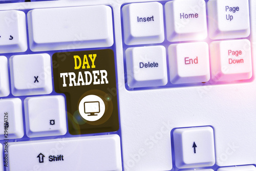 Text sign showing Day Trader Canvas Print