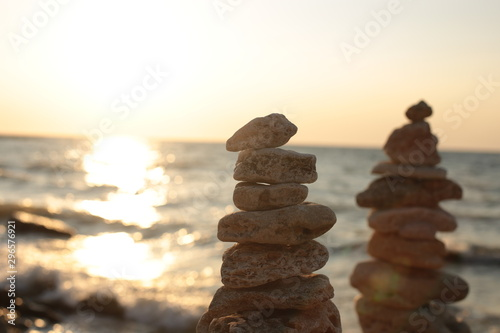 Photo sur Toile Zen pierres a sable natural background for relaxation and pacification