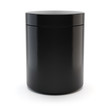 Leinwandbild Motiv Black Realistic Glass Jar. Sport nutrition container without label. Cosmetic Container for Premium Beauty Supplement. Whey protein and mass gainer black plastic jar isolated on white background. 3d il