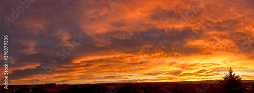 Canvas Prints Orange Glow Sunrise over Laramie Valley; Wyoming