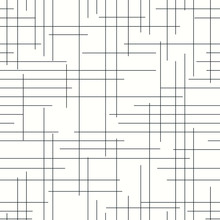 Repetitive, Discontinued, Horizontal And Vertical Grid Lines On White Background. Simple Grid Lines Seamless Pattern.