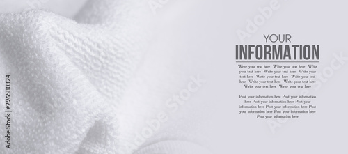 Fotografia  White towel macro material soft bath pattern blur background