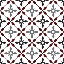 Cute Tile Pattern, Colorful Seamless Modern Background, Brown And Gray Ceramic Wallpaper Decor, Portugal Ornament, Moroccan Mosaic, Pottery Folk Print, Spanish Tableware, Vintage Tiled Design, Vector