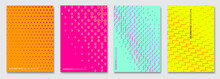 Vector Abstract Background, Creative Halftone Patterns, Geometric Gradient Texture. Minimal Pattern Design. Vivid Colors. Modern Cover Templates Set.