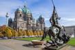 Leinwandbild Motiv the famous berlin cathedral against a blue sky