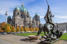 The Famous Berlin Cathedral Against A Blue Sky