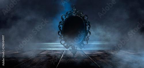 Foto  Dark night magic scene