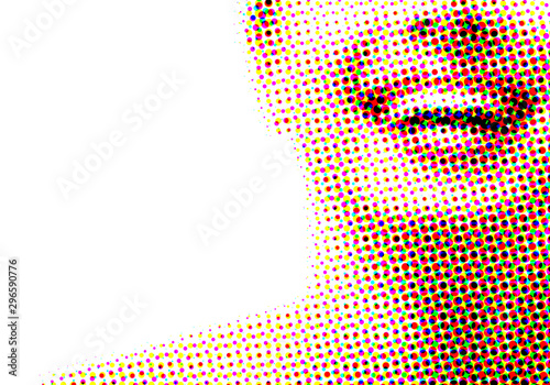 Fotografija Beautiful smile of young fresh woman with great healthy white teeth