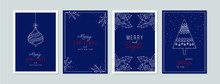 Merry Christmas Cards Set With...