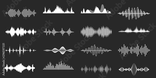 Sound waves Fototapet