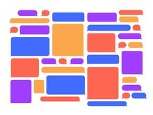 Chat Speech Bubbles. Smartphone Messenger Talk Bubble Frame, Chats Conversation Speeches Frames And Color Online Talks Messages Vector Set. Social Media Network Empty Multicolor Dialog Boxes