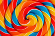 canvas print picture - Background of lollipop swirl, candy closeup