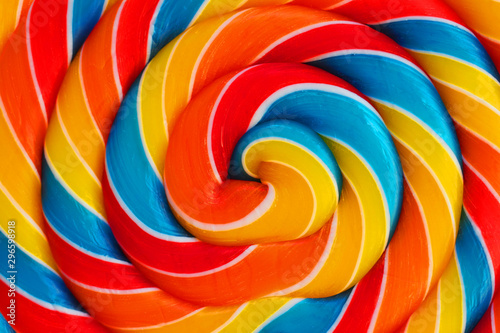 Photographie Background of lollipop swirl, candy closeup