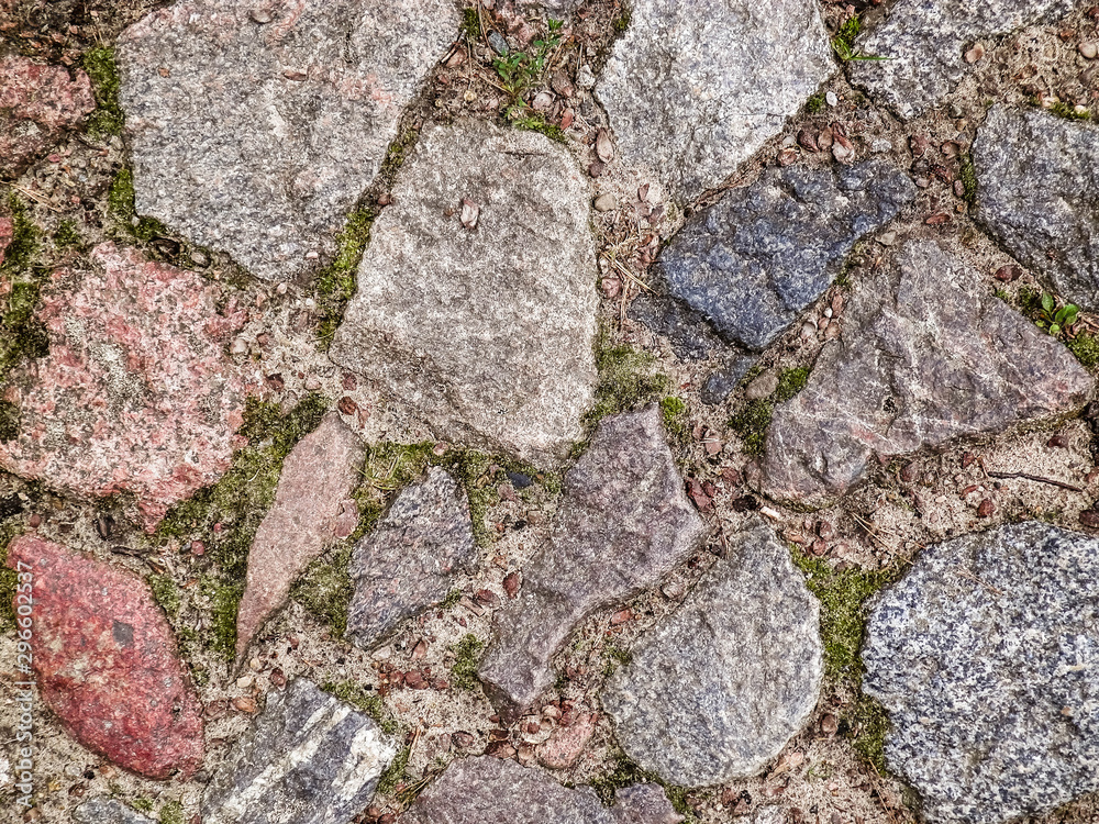 Stone paving as nature background.
