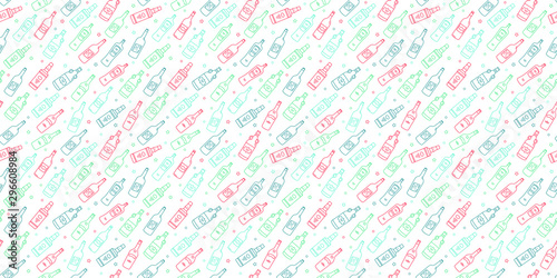 Photo  Drinks/Bottles Repeating Pattern Wallpaper Background