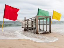 Lifeguard Stand Lying Down Wit...