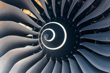 Curved Blades Of Aircraft Turbine