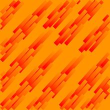 Abstract Geometric Pattern Of Orange Rectangles. Illustration