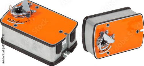Valokuvatapetti Orange ventilation damper actuator isolated