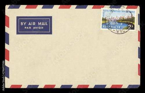 Fényképezés  Luftpost airmail Australien Australia vintage retro Briefmarke stamp Olympiad Me