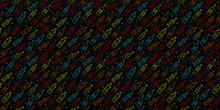 Drinks/Bottles Repeating Pattern Wallpaper Party