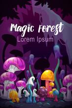 Magic Forest Scene. Unusual Fa...