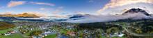 Dawn Panorama Of Reutte Villag...