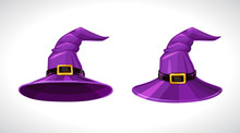Cartoon Purple Witch Hats, Abo...