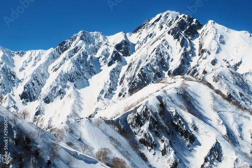 Cuadros en Lienzo Winter scenery in Hakuba valley, Nagano