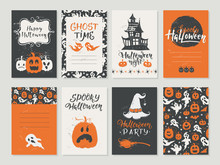Vector Halloween Greeting Card, Flyer, Banner, Poster Templates