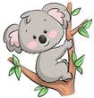 Niedlicher kletternder Koala - Vektor-Illustration