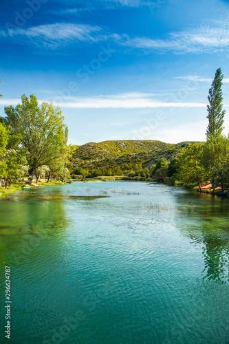 Beautiful nature landscape, Zrmanja river in Muskovci in Croatia - 296624787