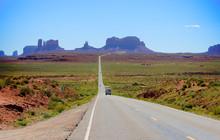 Long Road To Monument Valley Arizona - American Desert
