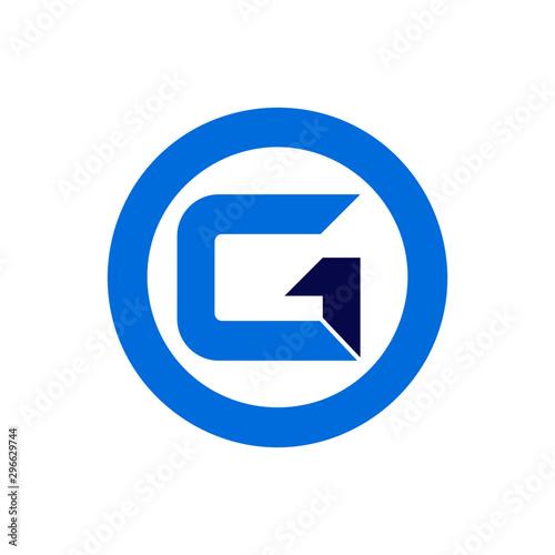 Obraz na plátne G1 Letter Logo Design Set