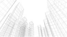 Architecture Building 3d. Conc...