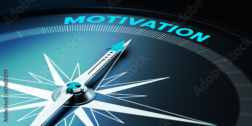Obraz Compass Needle is Pointing Title of Motivation - fototapety do salonu