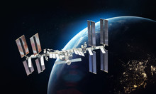 ISS Space Station On Orbit Of ...