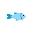 Isolated fish animal flat vector design