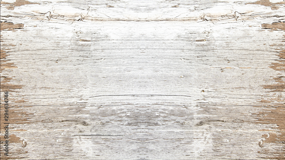 Fototapety, obrazy: old white painted exfoliate rustic bright light wooden texture - wood background shabby