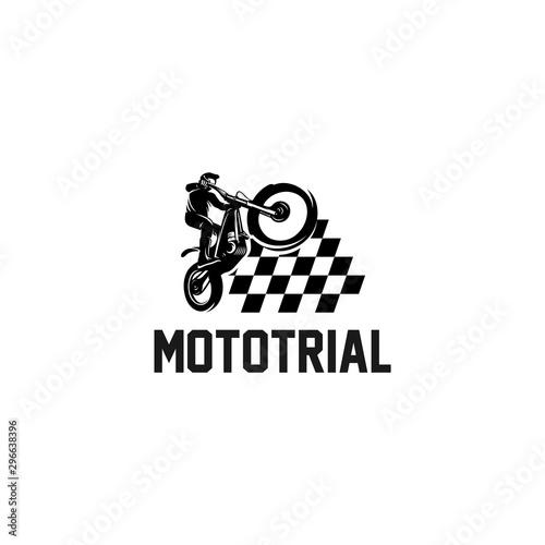 trial motorcycle champions logo Fototapeta