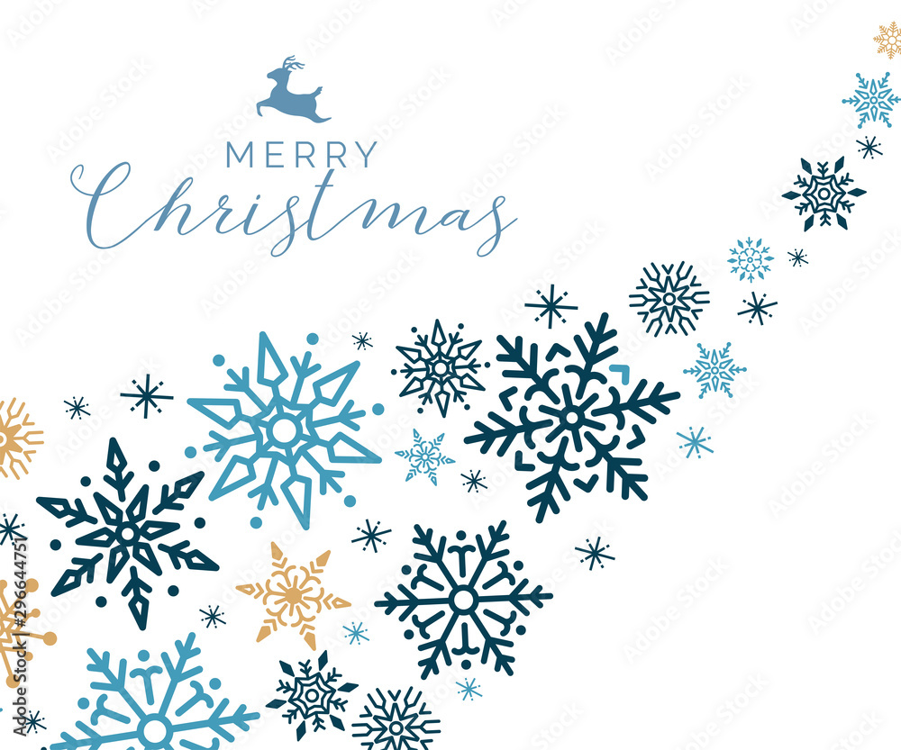 Fototapety, obrazy: Merry Christmas holiday design background vector
