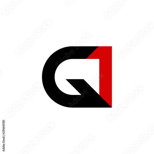 Fotografia, Obraz G1 Letter Logo Design Set